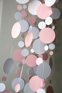 Baby shower garland Babies party decoration Pastel pink & white New born Paper garland Sprinkle shower First Birthday Diy Party Decorations, Paper Decorations, Birthday Decorations, Paper Garlands, Baby Shower Garland, Party Garland, Shower Party, Baby Shower Parties, First Birthday Parties