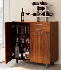 8 Creative Minibar Ideas for Your Home - Home Like Art Bar Furniture For Sale, Furniture Ideas, Discount Furniture, Outside Bars, Bar Cart Decor, Ideas Hogar, Bars For Home, Small Apartments, Decoration