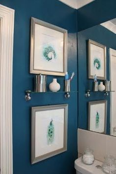 Swoon Worthy The Transformative Of Paint Pea Blue Bathroom Downstairs Artwork