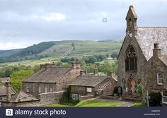 The village of Reeth, North Yorkshire England UK. Save preview image
