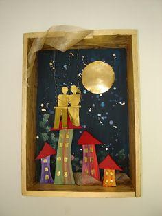 Home Crafts, Diy And Crafts, Crochet Flowers, Decoupage, Miniatures, Wall Decor, Ceramics, Frame, Artwork