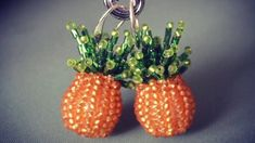Fun Beaded Pineapple Earrings Tutorials - The Beading Gem's Journal Pineapple Earrings, Earring Tutorial, Bead Weaving, Master Class, Seed Beads, Craft Projects, Gems, Fun, Crafts