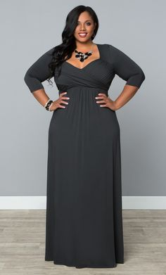 Our plus size Veronica Maxi Dress is easy, stylish and a steal!   www.kiyonna.com  #KiyonnaPlusYou  #MadeintheUSA  #Sale