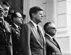 Visita del Presidente John Kennedy  a Venezuela 1961 junto al Sr. Romulo  Betancourt