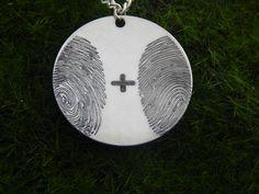 Two Fingerprint Personalized Pendant Jewelry