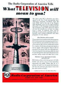 """""""[La televisión nunca será competencia para la radio pues] la gente debe sentarse y mantener sus ojos pegados a la pantalla. El estadounidense promedio no tiene tiempo para eso"""".    The New York Times, 1939"""