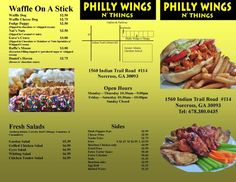 Page 2 of our Delicious Menu at Philly Wings N Things in Norcross, GA