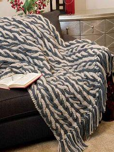 Knitting - Braided Vines Afghan