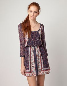 Bershka Spain - BSK flower print dress 25.99 € (IDR430)