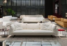 Living Divani Floyd Hi bank Sectional Sofa, Sofas, Couch, Living Divani, Italian Interior Design, Cushions, Studio, Live, Furniture