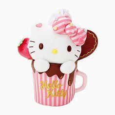 Hello Kitty dessert cup plush (๑˃̵ᴗ˂̵) サンリオのグッズ「ハローキティ ぬいぐるみ」をご覧ください。