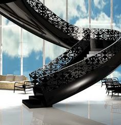 gorgeous lacy staircase. so dramatic. stairs stairs stairs
