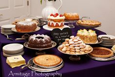 A dessert table for guests to enjoy instead of a wedding cake!  At Lionscrest Manor.