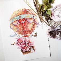 Arts_help# art_we_inspire# иллюстрация# акварель watercolor artwork, floral Flower Painting, Nursery Art Prints, Illustration, Drawings, Sketch Markers, Watercolor Art Face, Flower Illustration, Watercolor Illustration, Balloon Illustration
