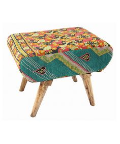 Another great find on #zulily! Floral Lounge Ottoman by Karma Living #zulilyfinds