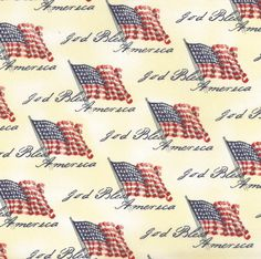 God Bless America Fabric Holiday Inspirations Fabric-Antique Flags fabric to create quilts, blankets, wall hangings etc. (aff link)