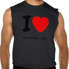 I Heart MY BASKETBALL COACH Sleeveless T-shirt Tank Tops