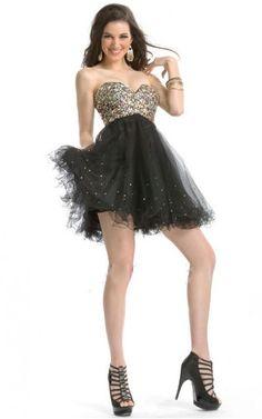 Sweetheart,Strapless Short Tulle Empire Backless Formal Dresses gjea71183