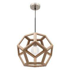 Peeta 55cm modern natural timber pendant