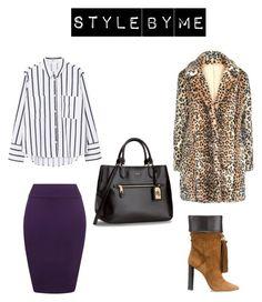 """Look #2"" by elufimova-elena on Polyvore featuring мода, MANGO, WearAll, Yves Saint Laurent, Trendy, trend и fashionset"