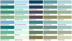 aquamarine color chip sample swatch palette on lowes interior paint color chart id=42722