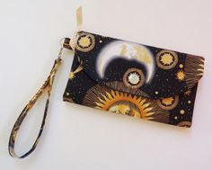 Solar system woman wallet and wristlet by CountingTreasures