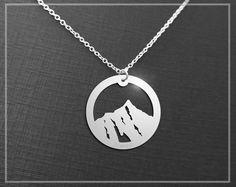 Everest Necklace, Everest Mountain Necklace, Aim High, Motivational Jewelry, Inspirational Pendant