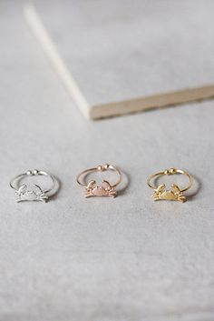 These sparkly crab claws. | 23 Ridiculously Cute Rings That Are Under $25