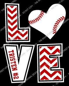 Chevron Love T-Shirt  Choose your sport, shirt color, & graphic colors    Great for Football, Baseball, Basketball, soccer, tennis, golf or