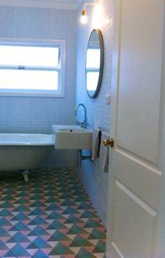 hex zulu encaustic tiled floor | beachhousetilestudio