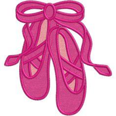 Ballet (A10) Shoes Applique 5x7