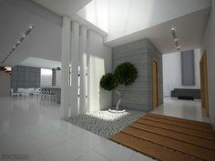 Proyecto ubicado en Cd. Juárez Chihuahua, en una zona residencial privada, la esencia de la residencia es la entrada de luz natural, la simplicidad, y los colores mayormente neutros. Uno de sus espacios distintivos es un vestíbulo en doble altura con área de jardín interior central. Arq. Javier Zubia 93D Arquitectos