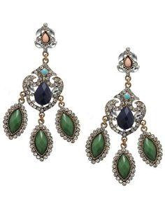 Star by Julien Macdonald Open swirl pave crystal peardrop earring ...