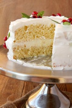Delicious & Easy Eggnog Cake... Boxed cake mix makes it easy, but the eggnog and 3 different milks makes it rich! No one will believe this came from a boxed mix!