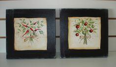 conjunto telas pintadas a mão 25x25