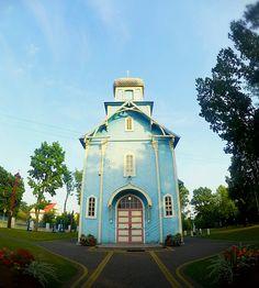 Blue Church, Dubicze Cerkiewne in Poland, podlasie