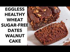 Mug Cake Healthy, Healthy Sugar, Healthy Recipes, Date And Walnut Cake, Coffee And Walnut Cake, Cake Recipe Without Sugar, Eggless Vanilla Sponge Cake, Cooker Cake, Cake Receipe