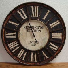 London Antique Style Inspired Kensington Station Wall Clock $65.00 #thebellacottage #shabbychic #french
