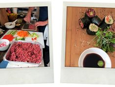 Ground beet, parsnips and cauliflower mimic rice in these raw sushi rolls.