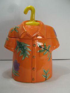 Hawaiian Shirt Cookie Jar - whew  thankfully I do NOT collect cookie jars!!