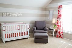 Poppy Red, Coral and Pink Nursery