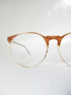 Round Horn Rim Eyeglasses 1960s Jean Lafont Vintage Deadstock Clear Transparent Womens Mens Unisex Sunglasses French Eyewear Retro 60s