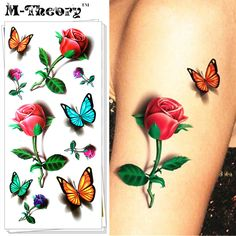 M-Theory Temporary Makeup Tattoos Sticker Butterfly Flash Tatoos Henna Tatuagem Body Art Tatto Sticker Swimsuit Makeup Tools