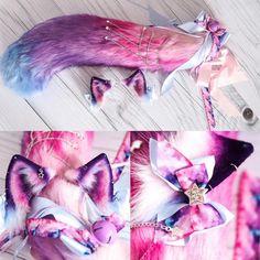 Cosplay Anime, Cosplay Diy, Cosplay Outfits, Anime Outfits, Cosplay Costumes, Cute Outfits, Pastel Goth Fashion, Kawaii Fashion, Wolf Ears And Tail