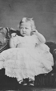 Princess Marie of Hesse, 1875 [in Portraits of Royal Children Vol.19 1874-75]   Royal Collection Trust