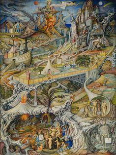 Juan O'Gorman México Los mitos  1944 Tempera sobre panel de madera 122 x 90 cm Colección FEMSA