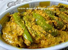 Maayeka - Authentic Indian Vegetarian Recipes: Hyderabadi Mirchi Ka Salan