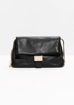 & Other Stories   Fold-Over Leather Clutch