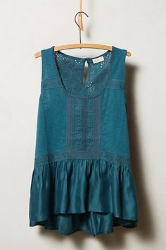 Lace Peplum Tank, blue (teal) Anthropologie