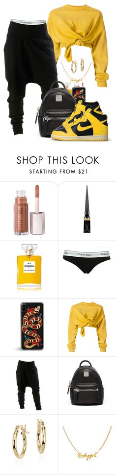 """10/28/2017"" by theresaaaaaaa ❤ liked on Polyvore featuring Christian Louboutin, Chanel, Calvin Klein, Ottolinger, MCM, NIKE and Blue Nile"